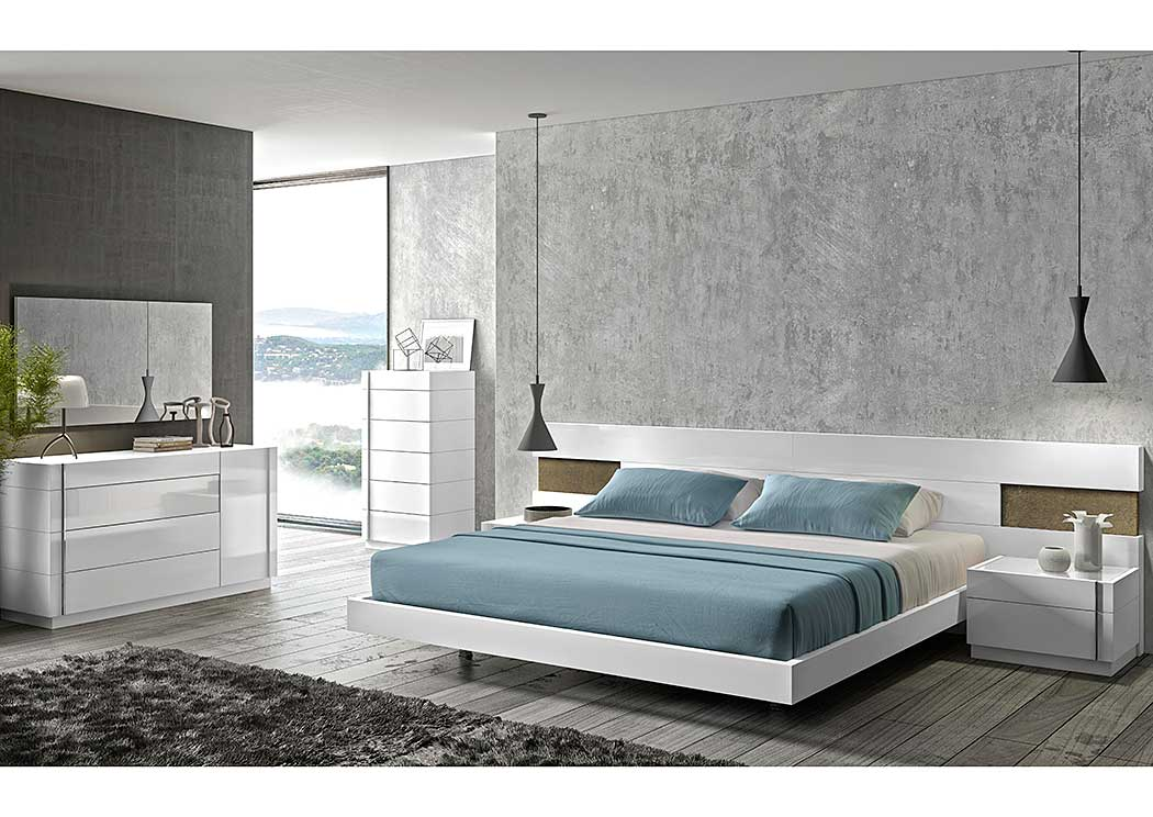 Amora Queen Bed, Dresser & Mirror,J&M Furniture