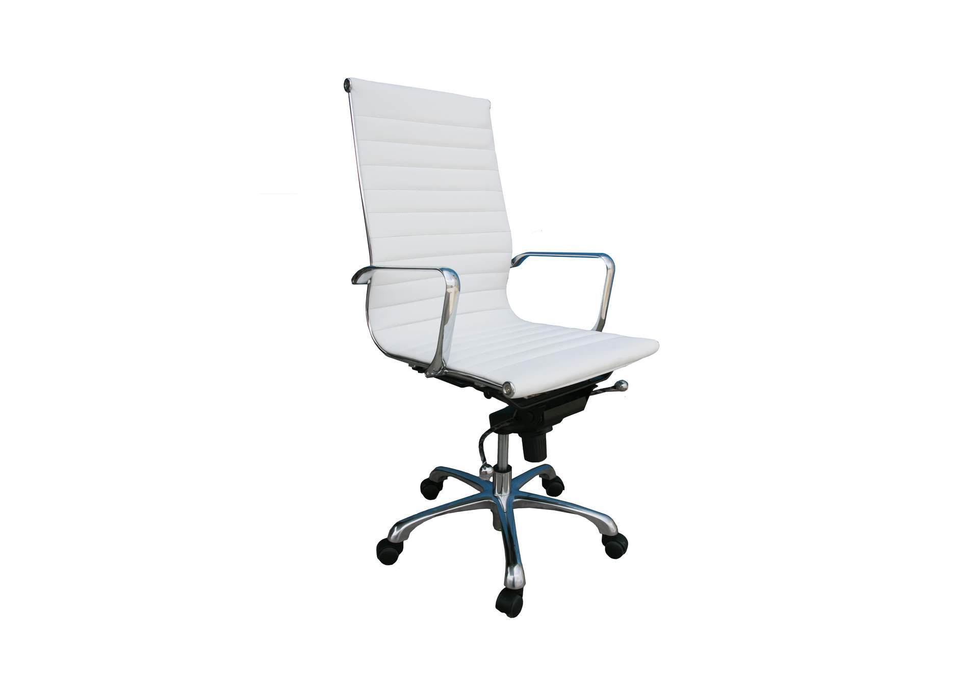 Comfy High Back White Office Chair,J&M Furniture