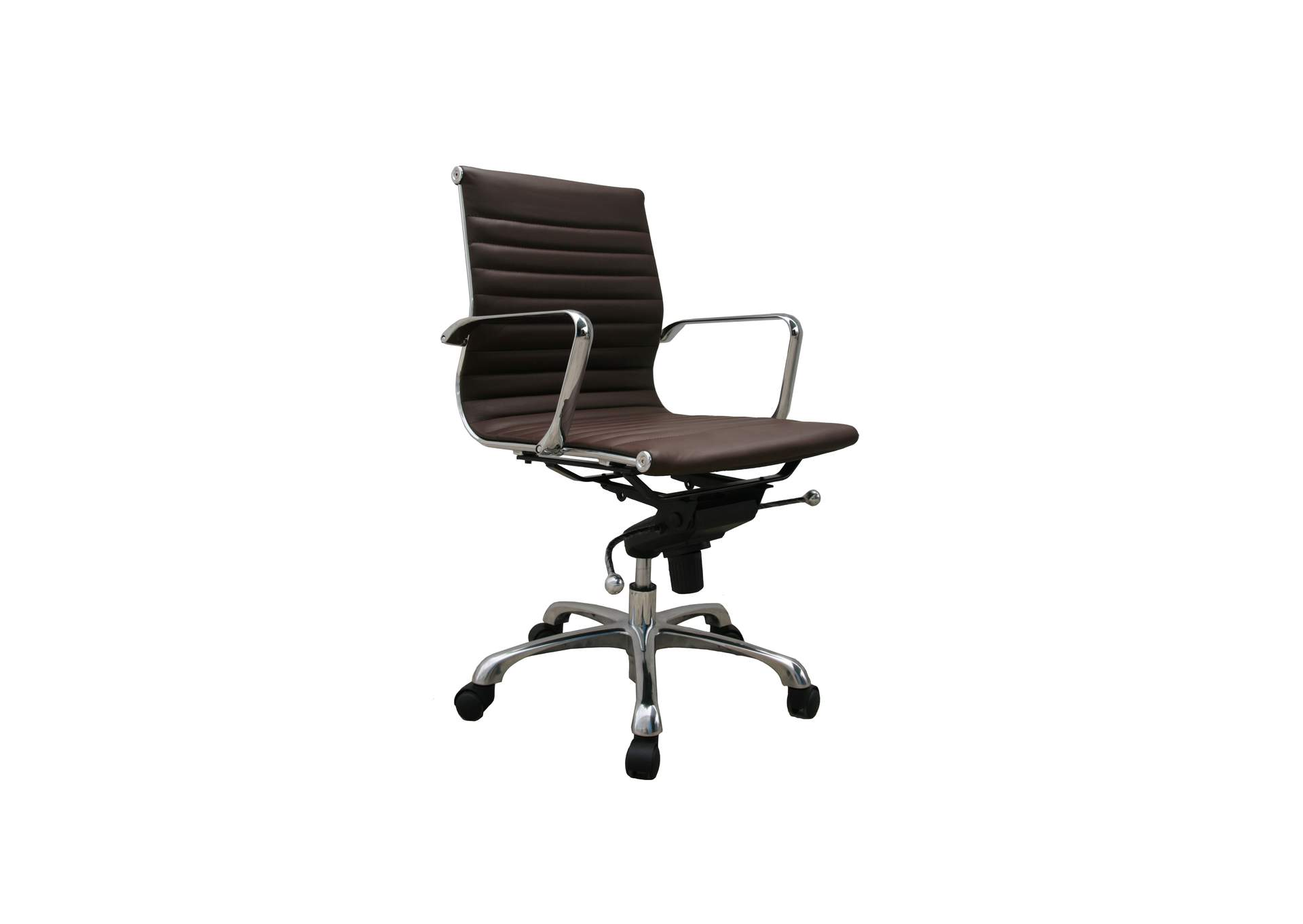 Comfy Low Back Brown Office Chair,J&M Furniture