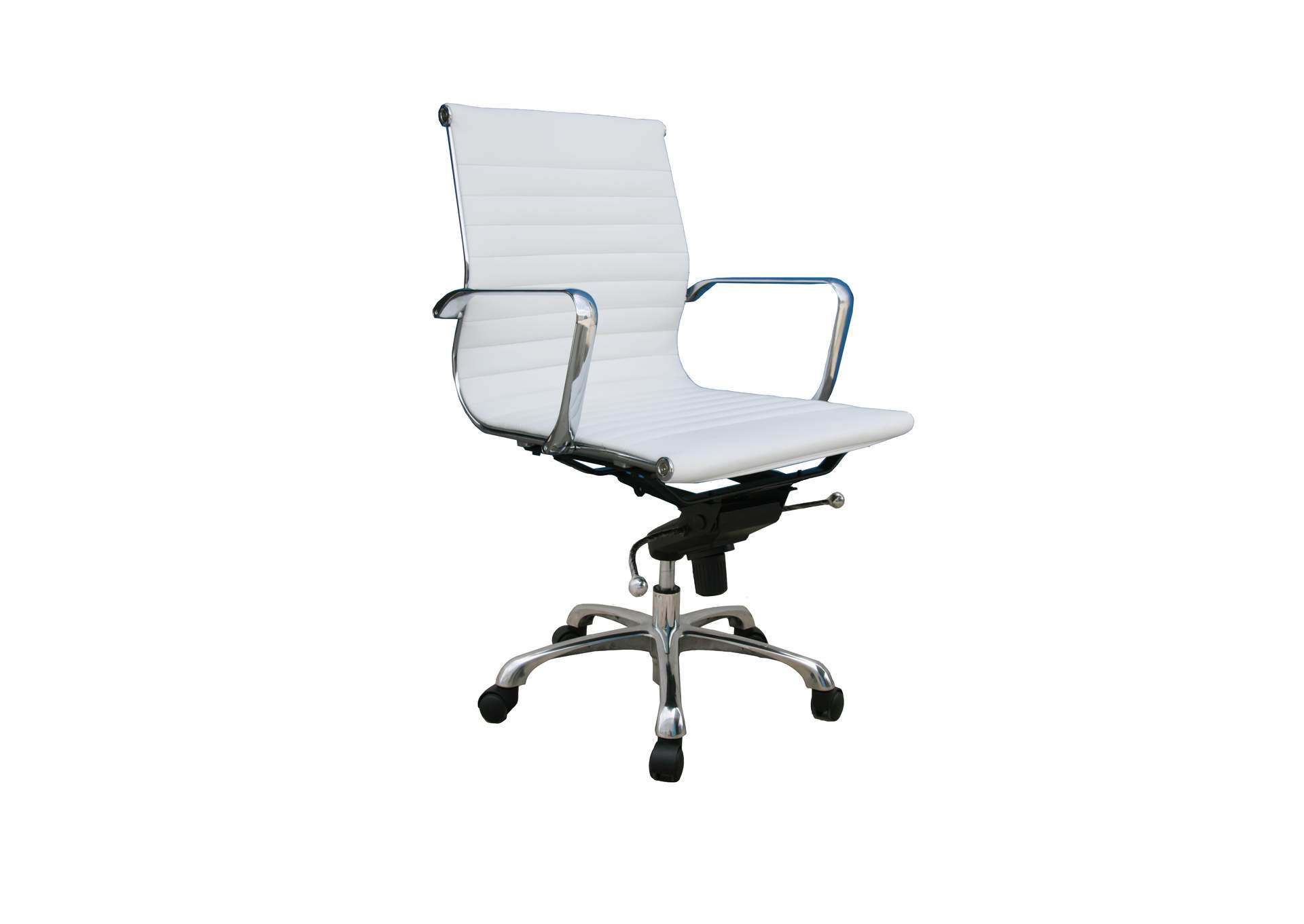 Comfy Low Back White Office Chair,J&M Furniture