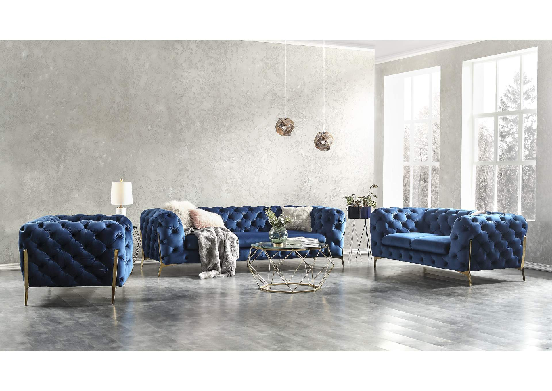 Picture of: Glamour Sofa In Blue Best Buy Furniture And Mattress