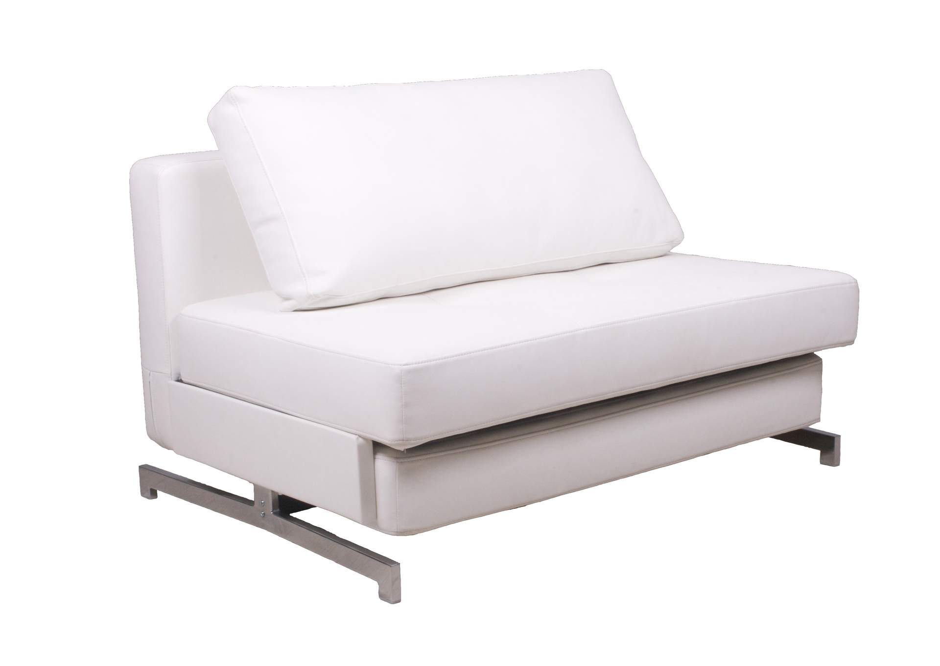 Premium Sofa Bed K43-1 in White Leatherette,J&M Furniture