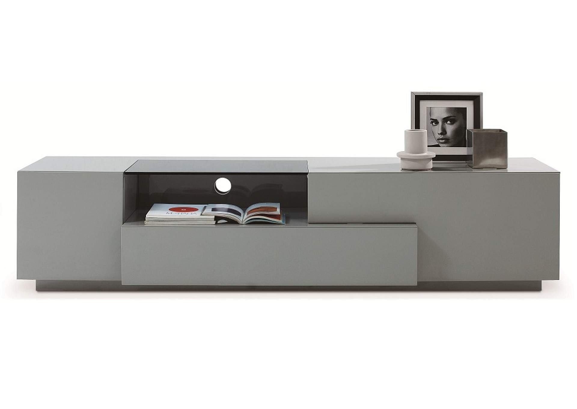 TV Stand 015 in Grey High Gloss,J&M Furniture