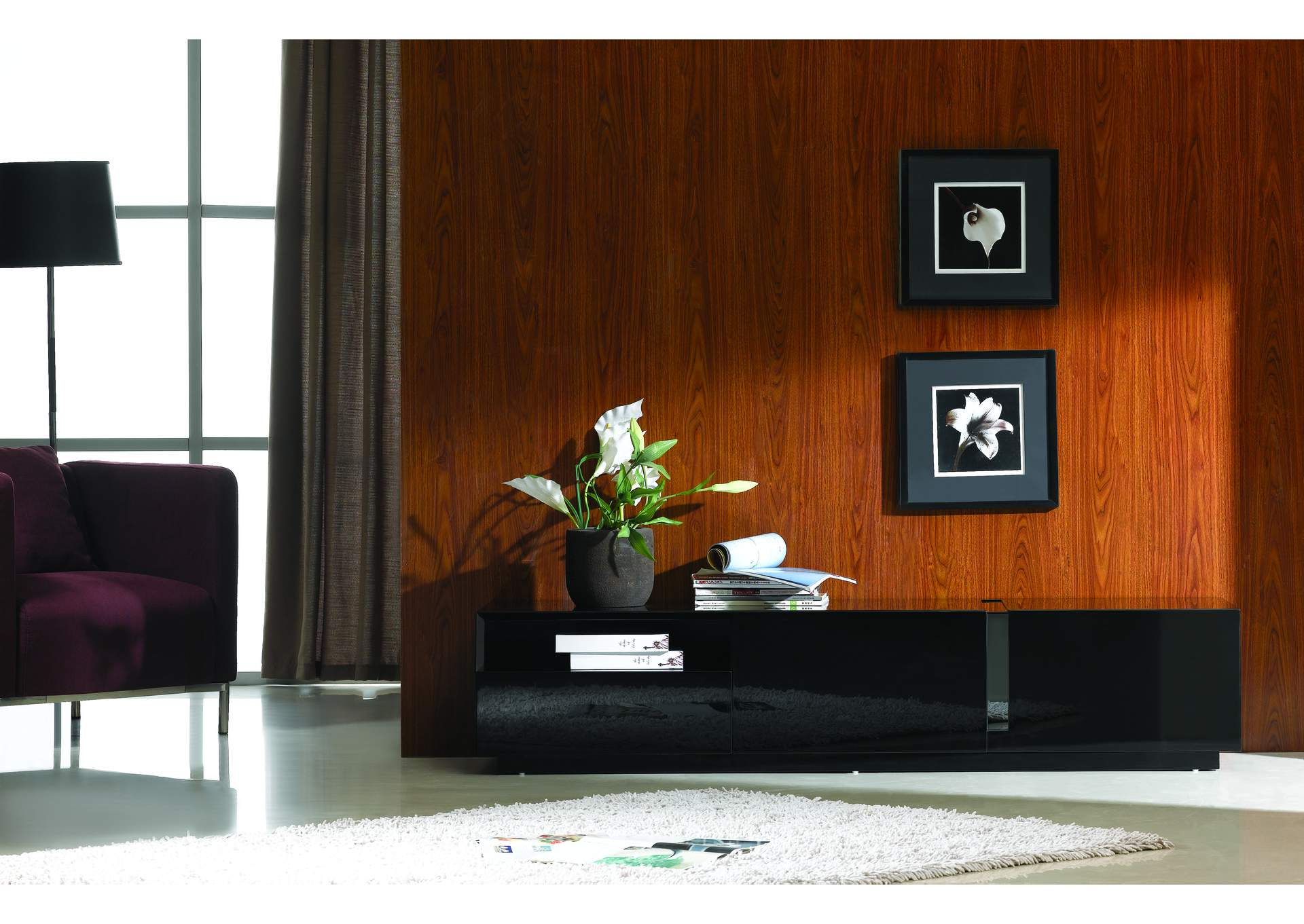 TV Stand 027 in Black High Gloss,J&M Furniture