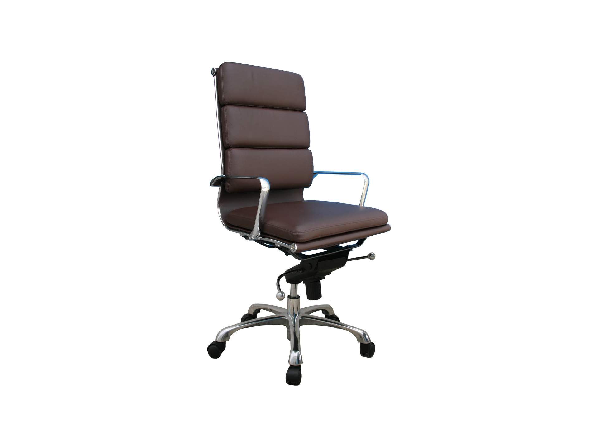 Plush Brown High Back Office Chair,J&M Furniture