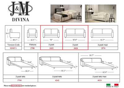 Image for Divina Sofa in Leather