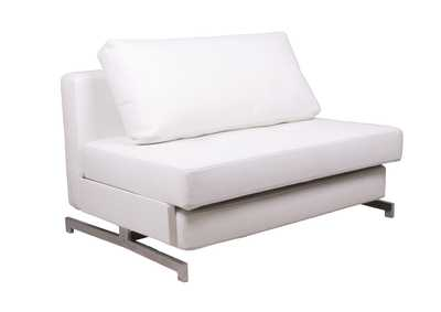 Premium Sofa Bed K43-1 in White Leatherette