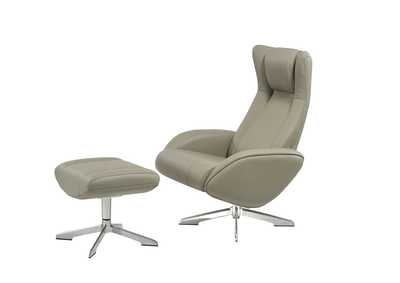 Image for Maya Chair and Ottoman in Grey