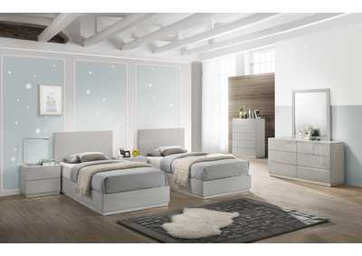 Image for Naples Grey Twin Bed