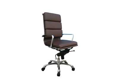 Plush Brown High Back Office Chair