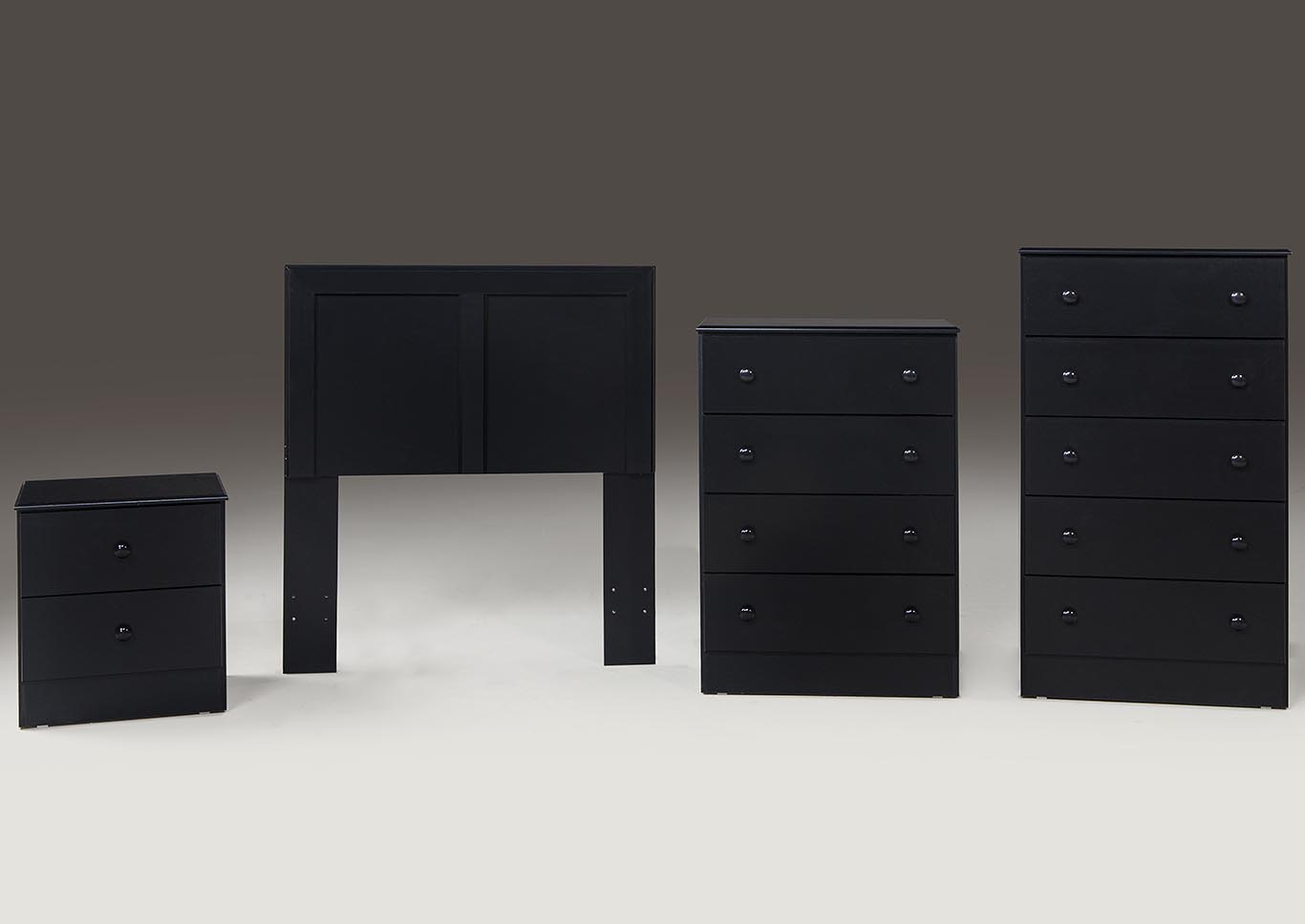 Black 5 Drawer Chest,Kith