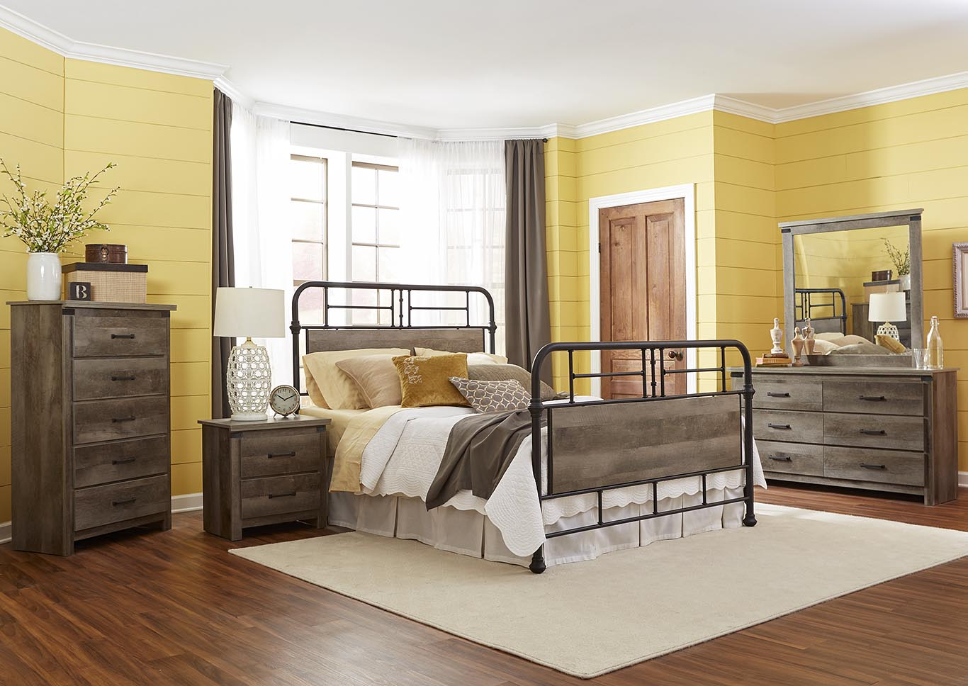 Gambrel Full Metal Panel Bed,Kith