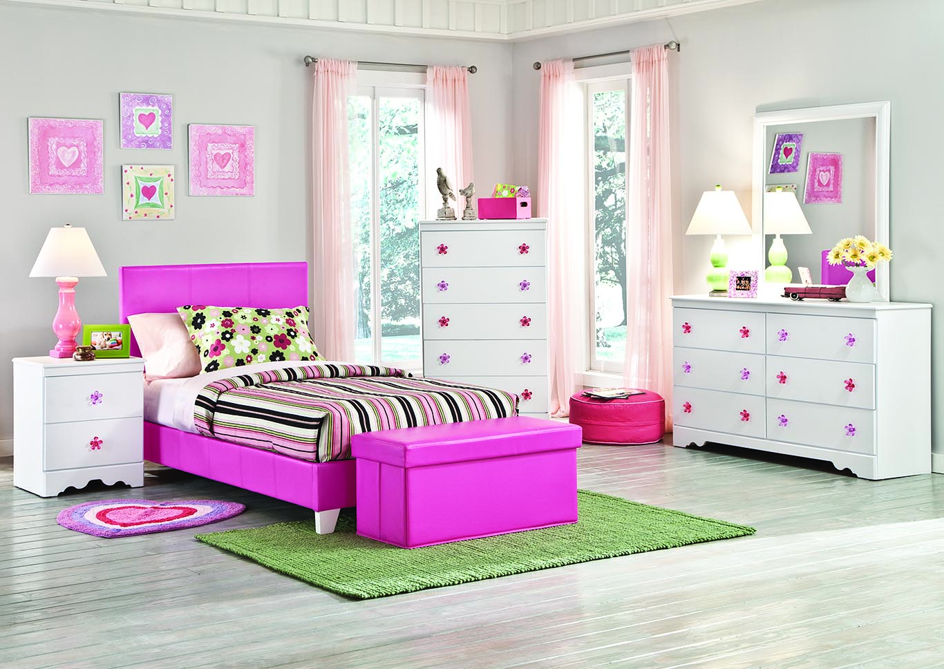 Savannah Pink Full Bed,Kith
