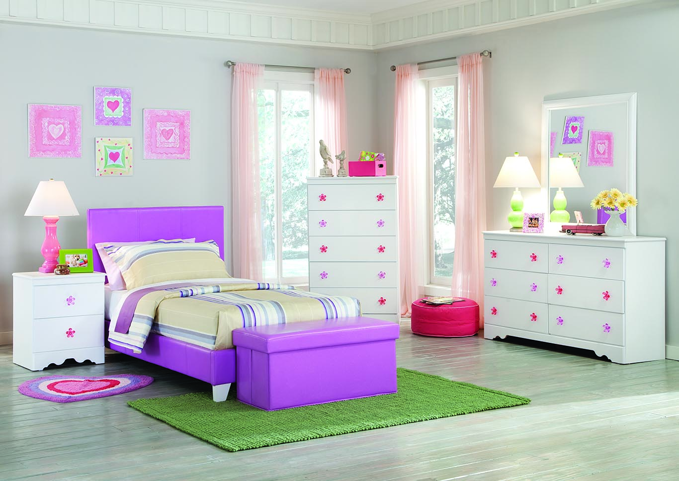 Savannah Lavender Twin Bed,Kith