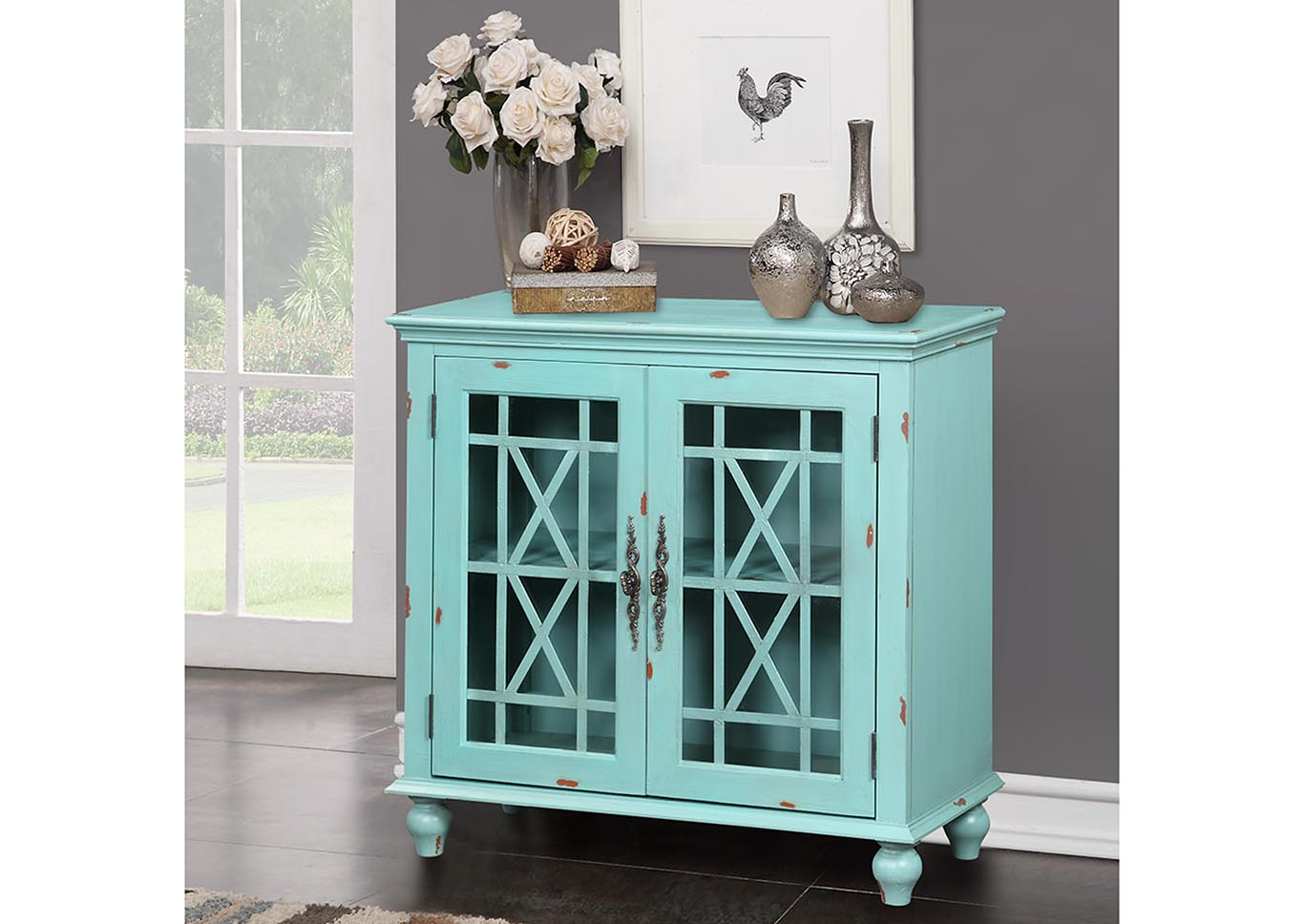 Harper's Branch Turquoise Accent Console,Kith