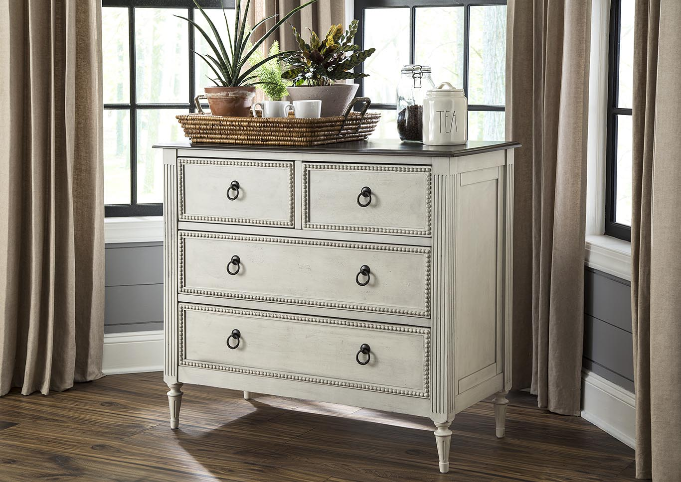 Two Toned 4 Drawer Console,Kith