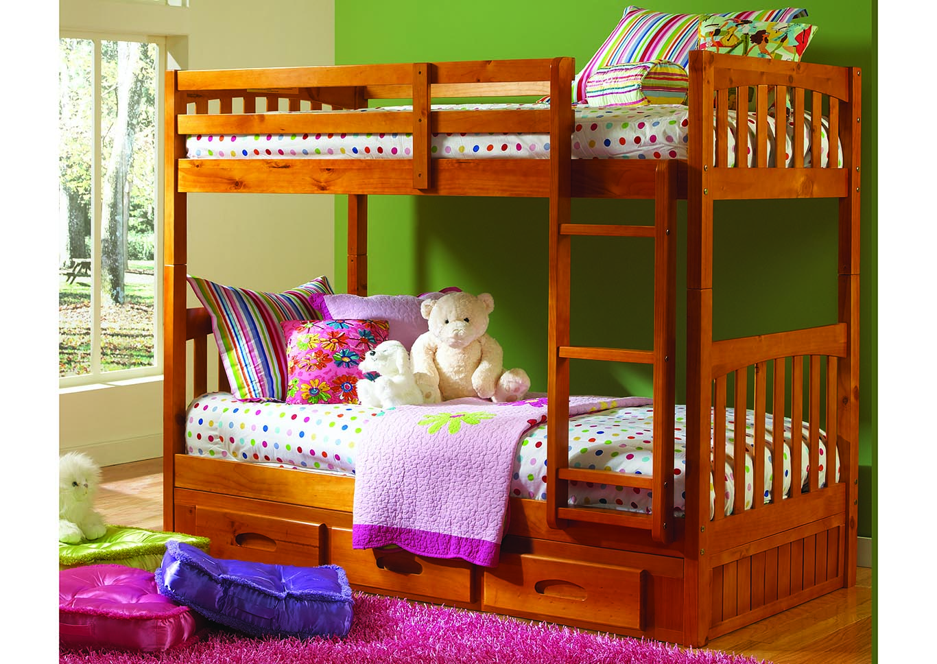 Bunkbeds Twin Trundle Bed,Kith