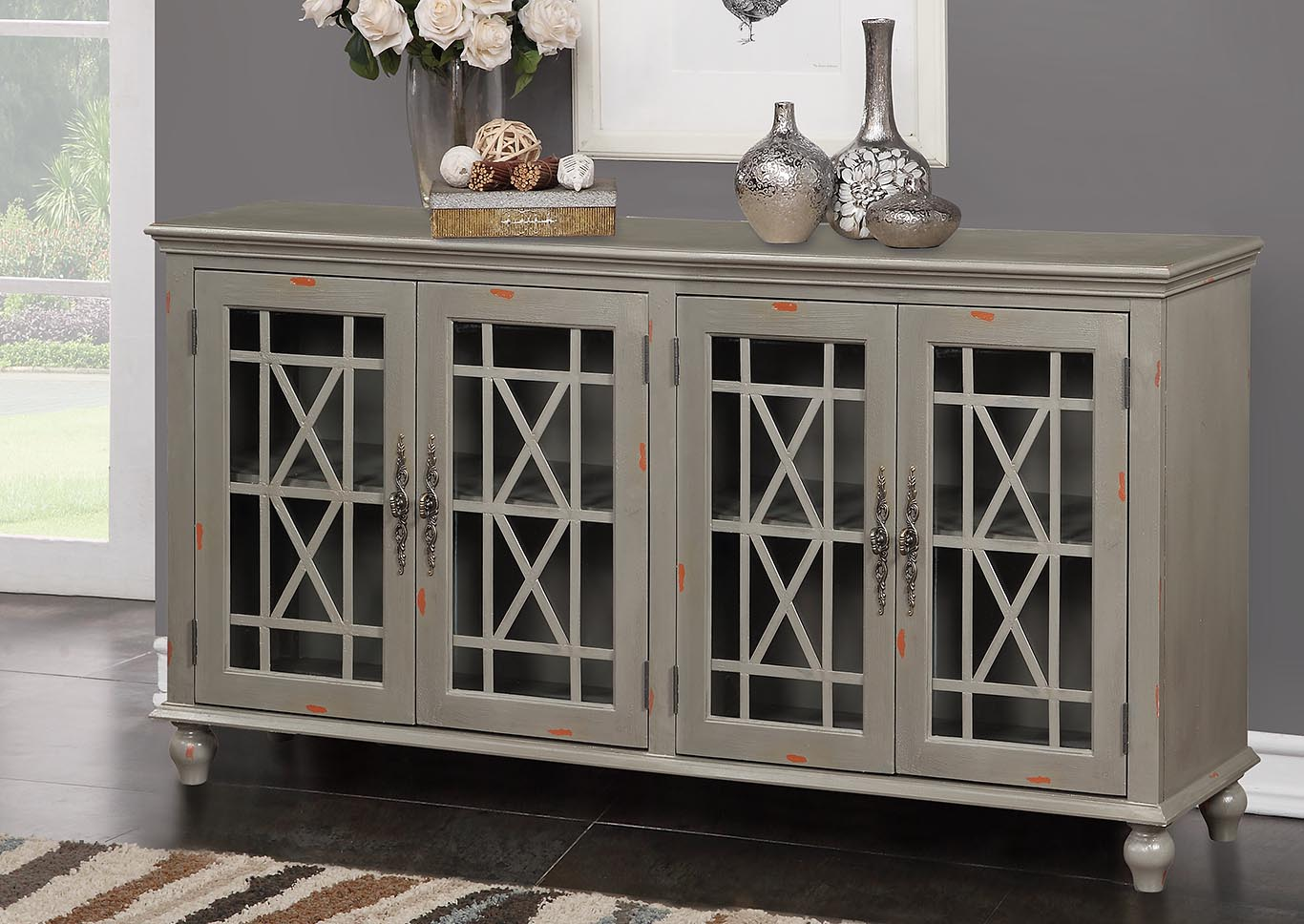 Harper's Branch Grey Accent Console,Kith