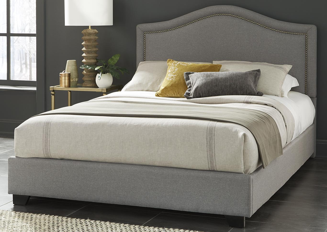 Midnight Gray Full/Queen Headboard,Kith