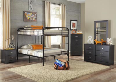 Image for Metal Black Full/Full Metal Bunkbed