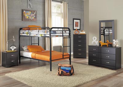 Image for Metal Black Twin/Twin Metal Bunkbed