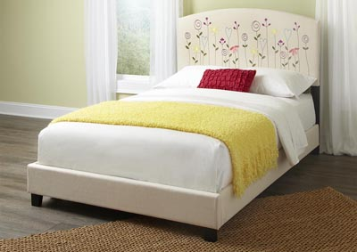 Image for Kourtney Twin Flower Headboard