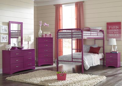 Image for Metal Raspberry Twin/Twin Metal Bunkbed