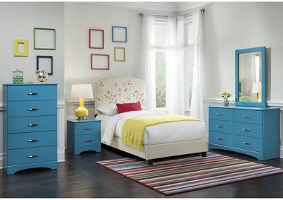 Image for Turquoise 5 Drawer Chest