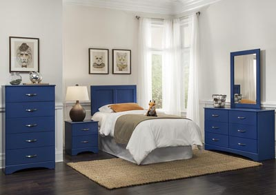 Image for Royal Blue Twin Panel Headboard