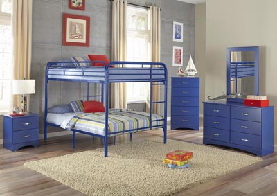 Image for Metal Royal Blue Full/Full Metal Bunkbed