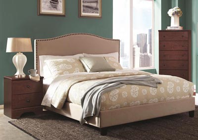 Image for Langston Linen King Upholstered Bed