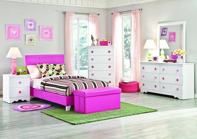 Savannah Pink Storage Bench