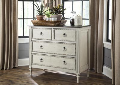 Two Toned 4 Drawer Console