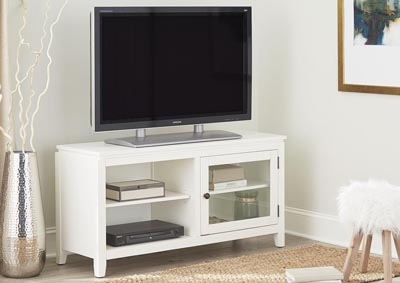 "Image for 48"" White Folding TV Console"