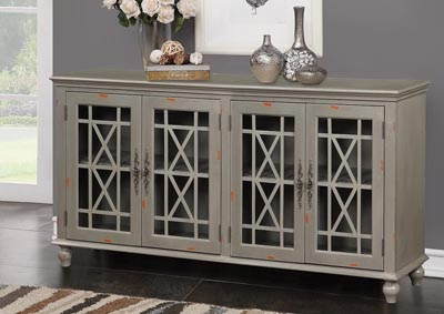 Harper's Branch Grey Accent Console