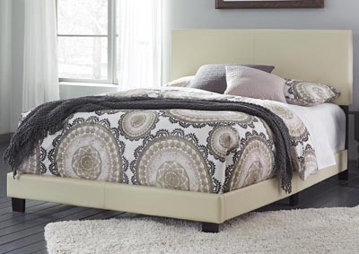 Image for Ramon King Cream PU Bed In One Box