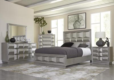 Matrix Silver King Panel Bed