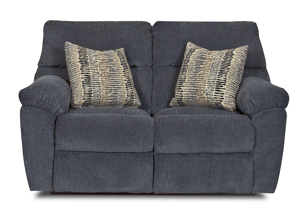 Odessa Ashanti Lapis Reclining Fabric Loveseat,Klaussner Home Furnishings