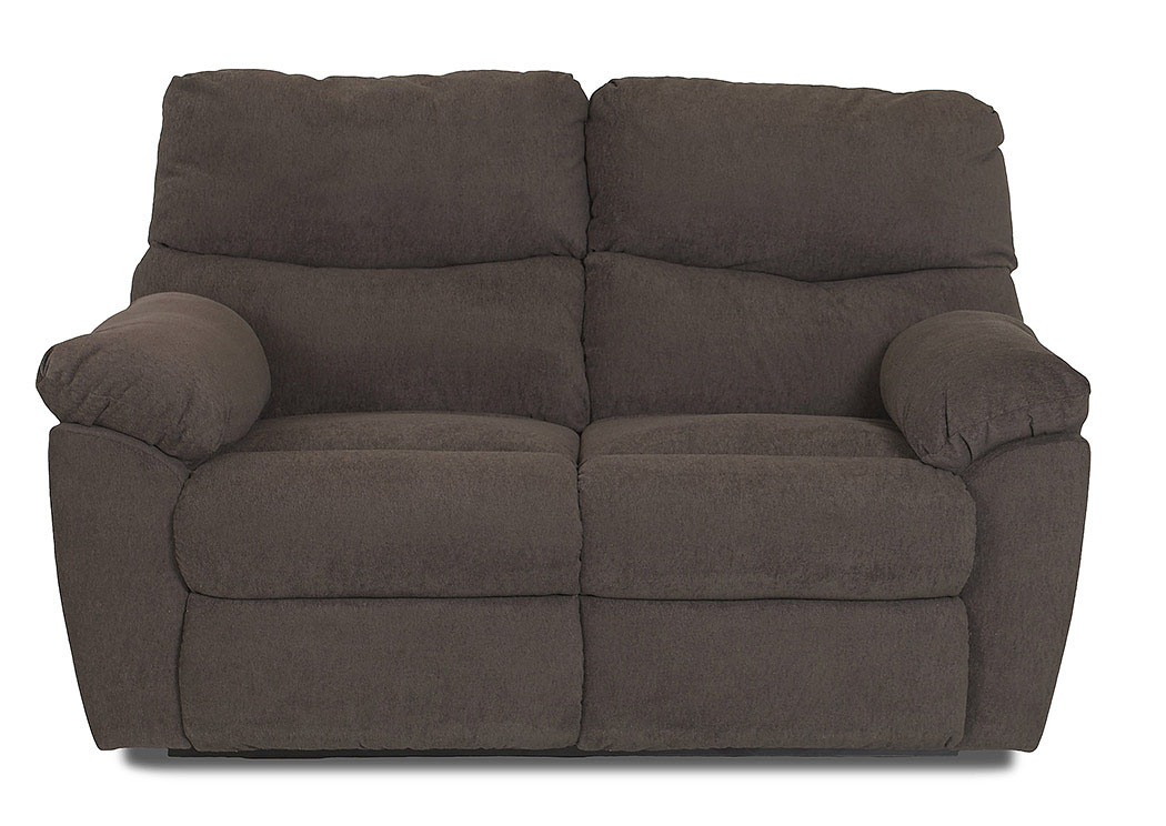 Odessa Takeoff Sterling Reclining Fabric Loveseat,Klaussner Home Furnishings