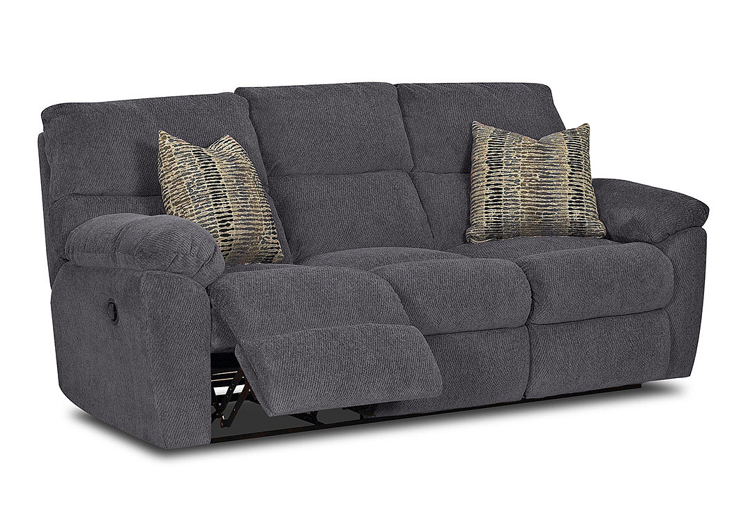 Odessa Blue Sterling Reclining Fabric Sofa Jesup Furniture Outlet
