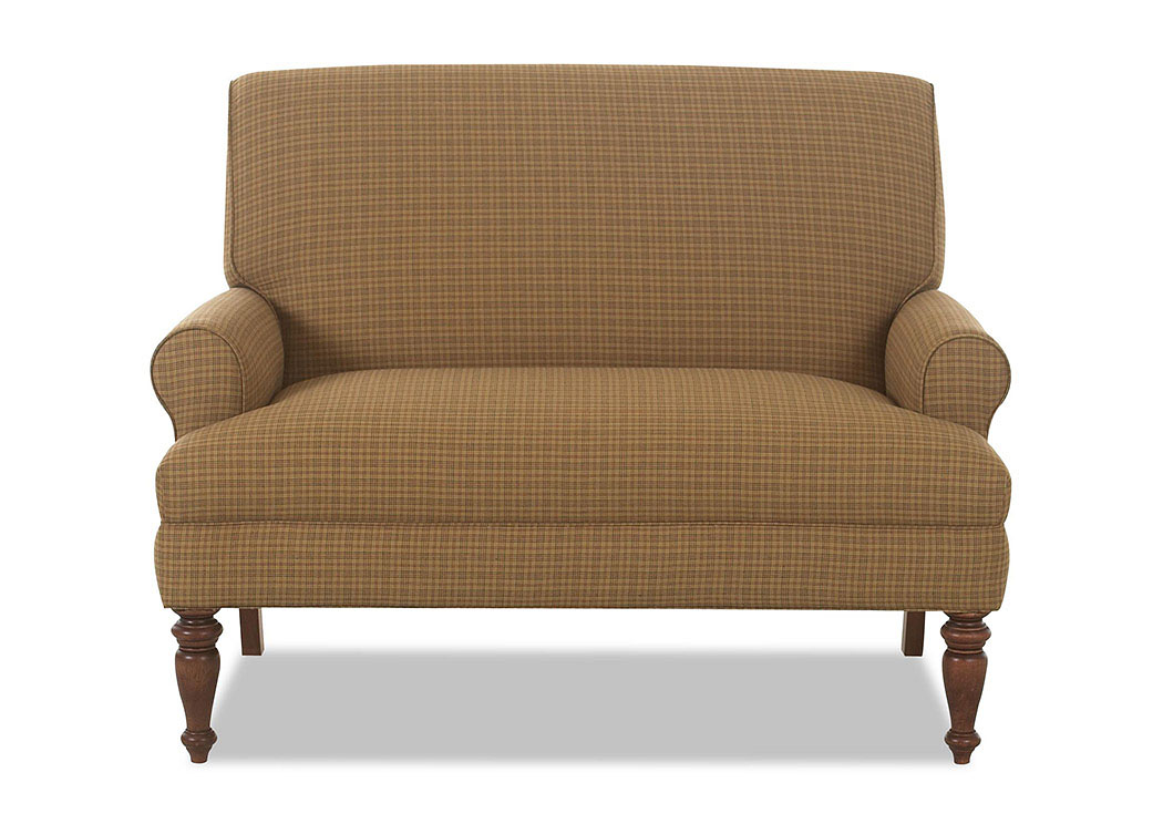 Teasdale Leigh Cafe Stationary Fabric Loveseat,Klaussner Home Furnishings