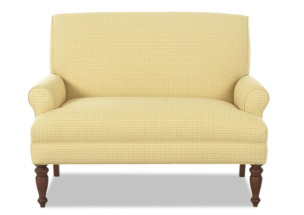 Teasdale Leigh Sunflower Stationary Fabric Loveseat,Klaussner Home Furnishings