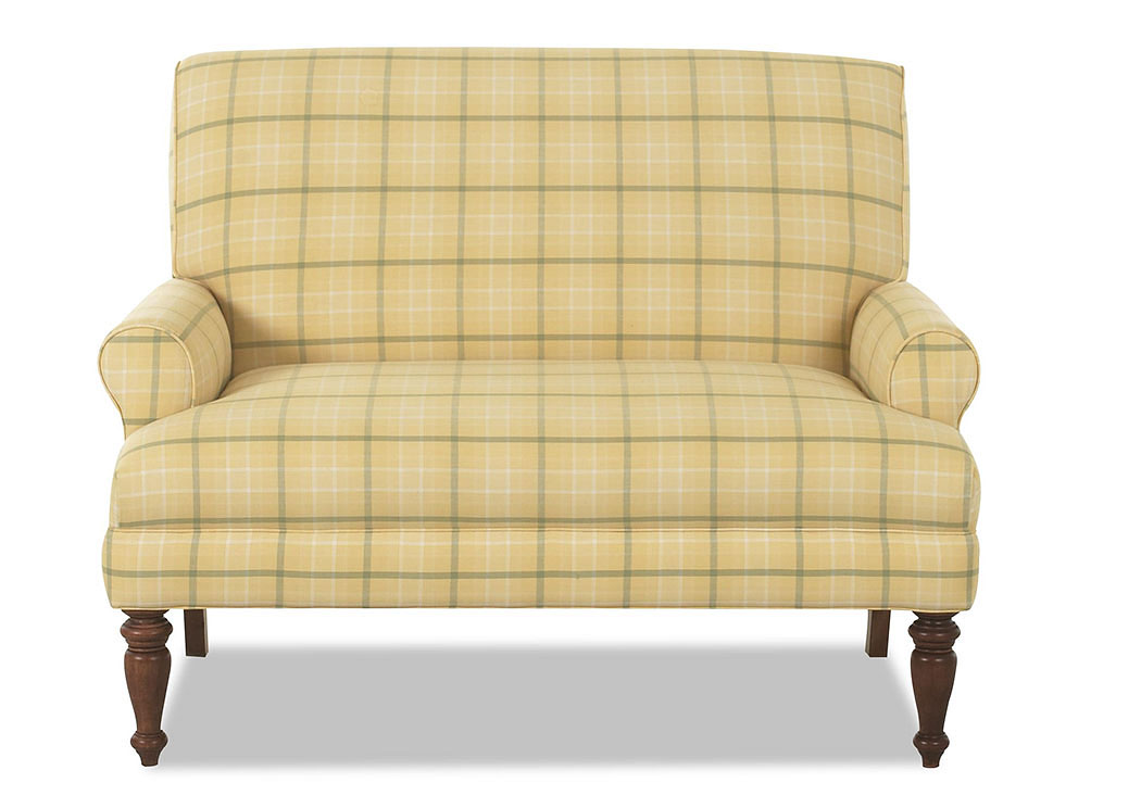Teasdale Thistle Sunflower Stationary Fabric Loveseat,Klaussner Home Furnishings