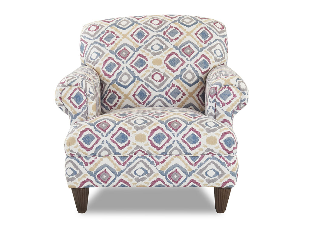 Wrigley Baywatch Plum Stationary Fabric Chair,Klaussner Home Furnishings