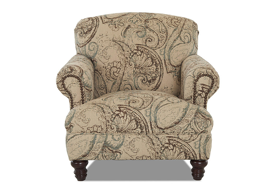 Barnum Boteh Oasis Stationary Fabric Chair,Klaussner Home Furnishings