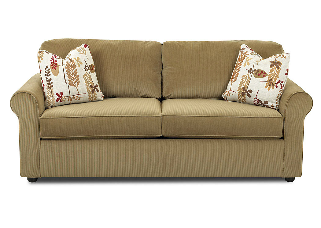Brighton Light Brown Sleeper Fabric Sofa,Klaussner Home Furnishings