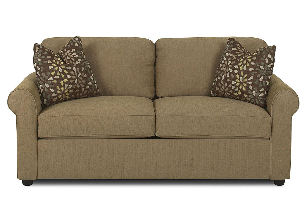 Brighton Brown Sleeper Fabric Sofa,Klaussner Home Furnishings