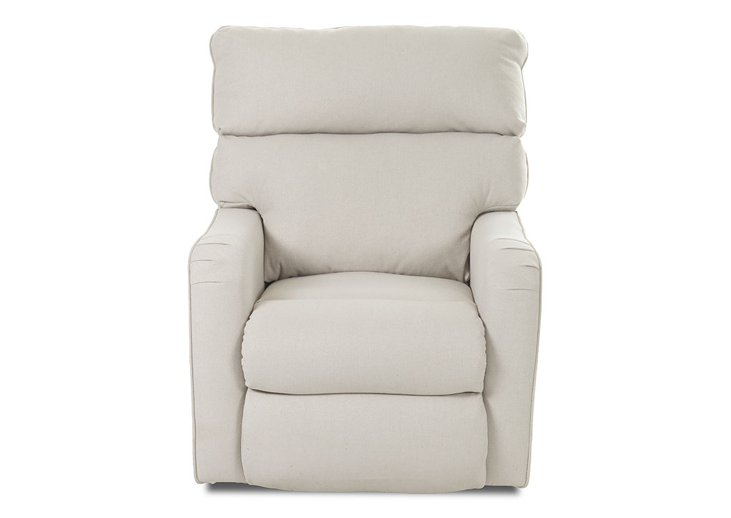 Axis Lily Sand Reclining Fabric Chair,Klaussner Home Furnishings