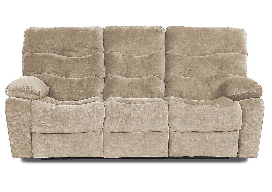 Hercules Toast Power Reclining Fabric Sofa,Klaussner Home Furnishings