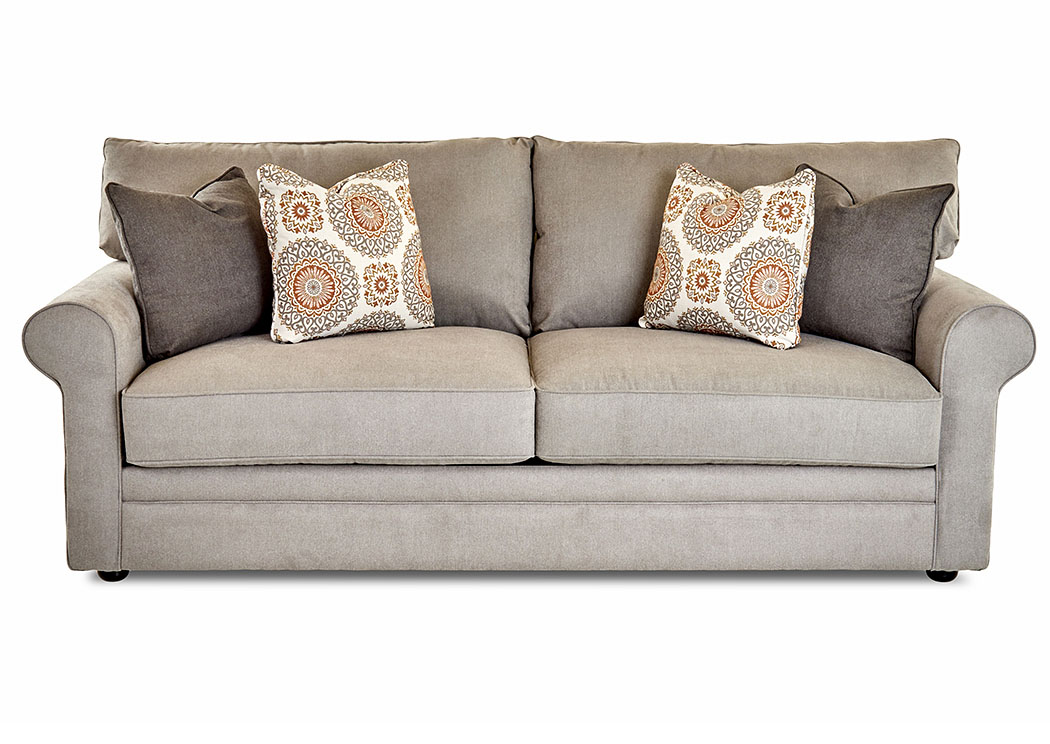 Comfy Enello Cement Gray Stationary Fabric Sofa,Klaussner Home Furnishings